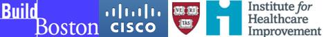 buildboston, cisco, harvard, Institute for Healthcare improvement logos