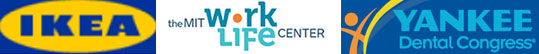 IKEA, MIT work life center, yankee dental conference logos