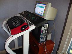 A DIY treadmill desk