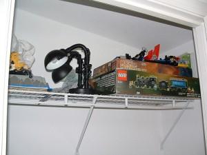 Top shelf dumping space