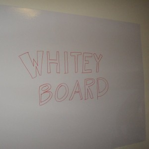 WhiteyBoard in the home office