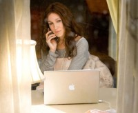 Carrie Bradshaw at her desk