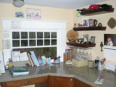A Typical Kitchen Counter Desk
