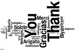 """Thank you"" in many languages"