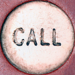 close-up photo of CALL button
