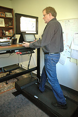 treadmill desk , home office improve productivity