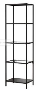 IKEA Vittsjo bookcase in steel and glass