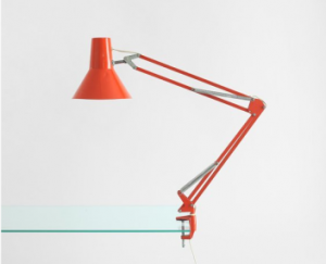 orange drafting lamp