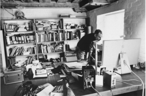 steve jobs in his home office